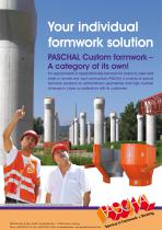 PASCHAL Custom formwork - Product Flyer
