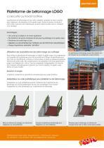 Plateforme de bétonnage LOGO.3 - Information sur le produit - 2