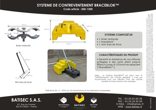 SYSTEME DE CONTREVENTEMENT BRACEBLOK