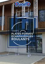 TARIFS PLATES-FORMES ECHAFAUDAGES ROULANTS
