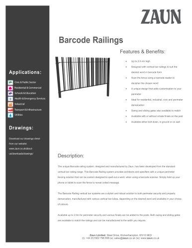Barcode Railings
