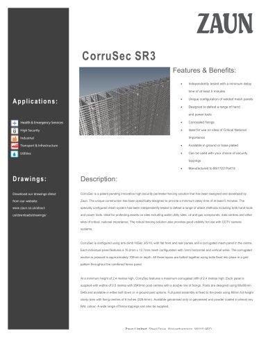 CorruSec SR3 Fencing