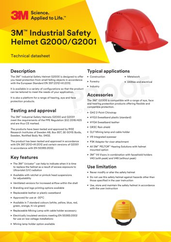 3M™ Industrial Safety Helmet G2000/G2001