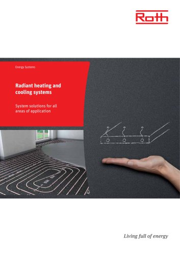 Radiant heating and cooling systems