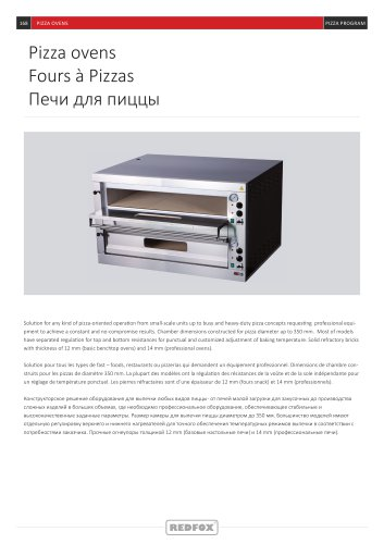 REDFOX Pizza ovens