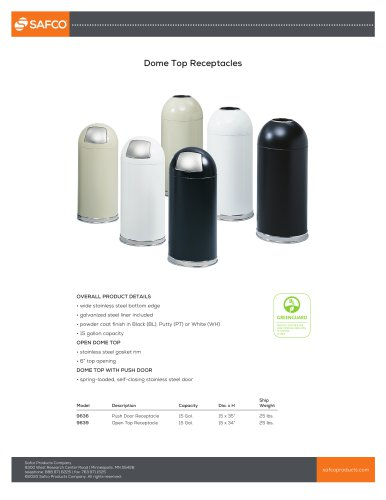 Dome Top Receptacles