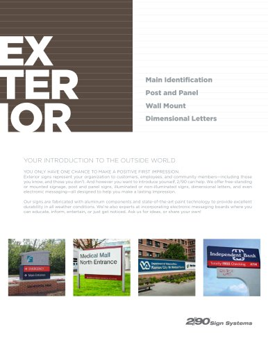 Exterior Signage Flyer