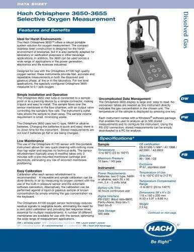 Orbisphere 3650-3655 Selective O2 Measurement
