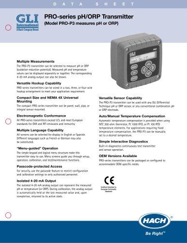 PRO-series pH/ORP Transmitter PRO-P3/1001
