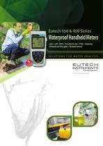 Eutech 150 & 450 Series Waterproof Handheld Meters
