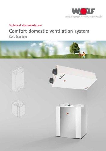Comfort domestic ventilation system CWL Excellent