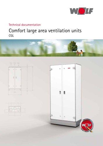 Comfort large area ventilation units CGL