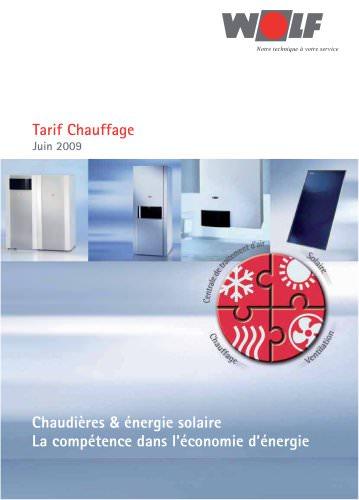 Tarif Chauffage 2009
