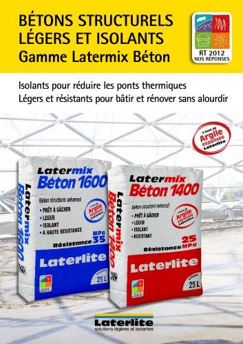 Gamme Latermix Béton ? Bétons structurels légers et isolants en sac