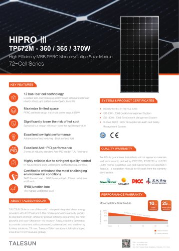 HIPRO III TP672M