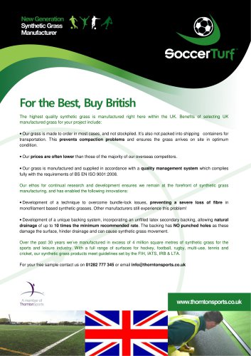 SoccerTurf Synthetic Grass