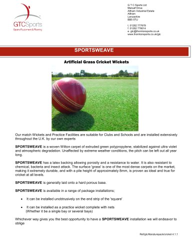 Sportsweave : Cricket Surfaces -