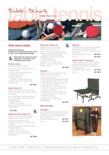 Table Tennis Equipment -