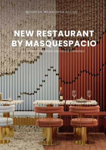 NEW RESTAURANT BY MASQUESPACIO | The Ultimate Fine Dining And Design Experience