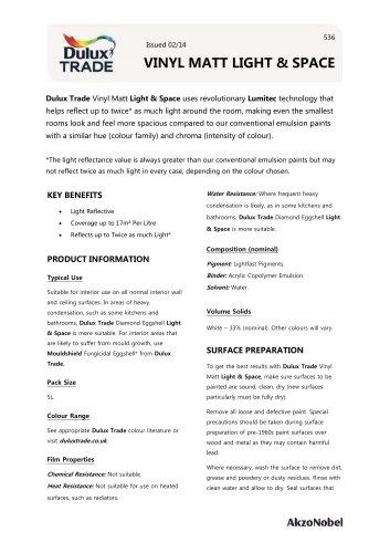 VINYL MATT LIGHT & SPACE