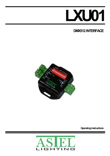 DMX512 Interface LXU01