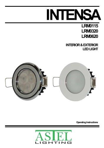 INTENSA LRM0320, LRM0115, LRM0620: Recessed interior & exterior LED downlights