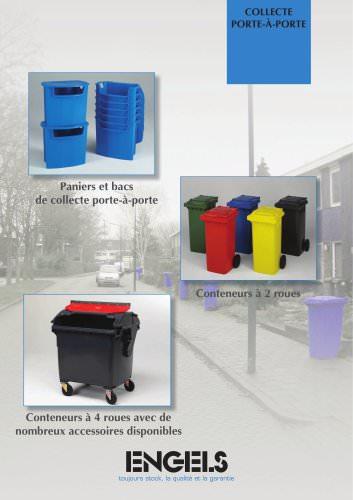 Conteneurs à déchets plastiques