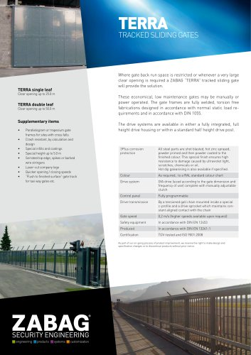 TERRA TRACKED SLIDING GATES