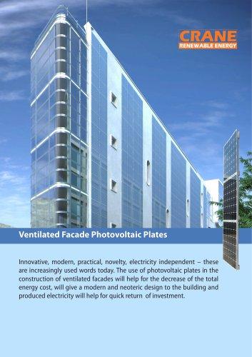 Ventilated Facade Photovoltaic Plates