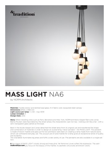 Mass Light NA6 info