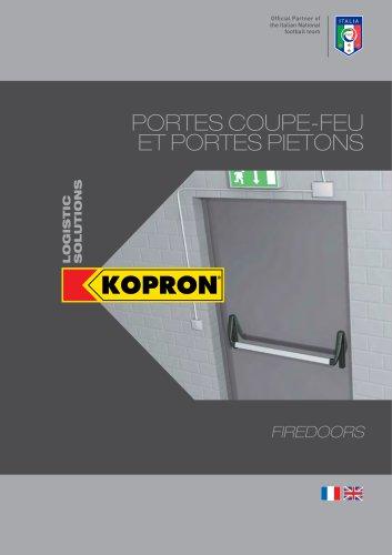Kopron Portes Coupe-Feu et Portes Pietons