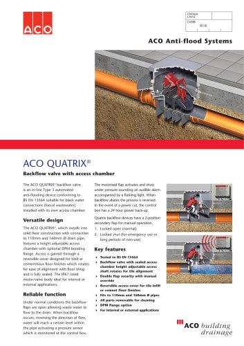 QUATRIX with Chamber Anti-flood Backflow Protection System