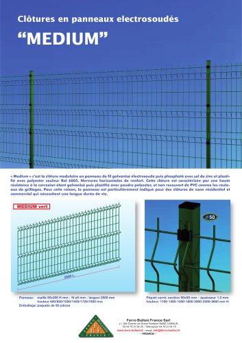 """Clôtures en panneaux electrosoudés """"MEDIUM"""""""