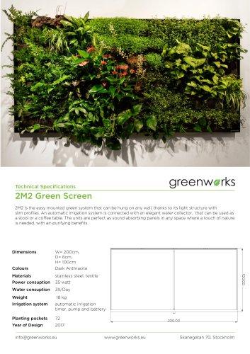 2m2 Green Screen data-sheet