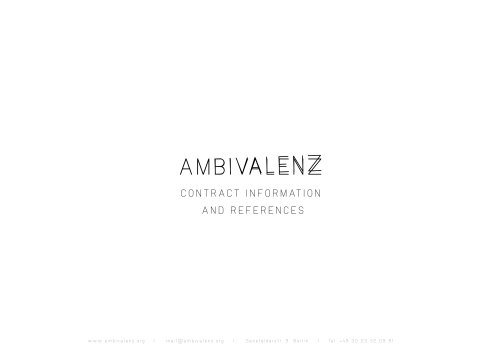 AMBIVALENZ contract references