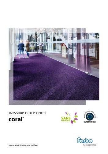 Coral - tapis de propreté souples
