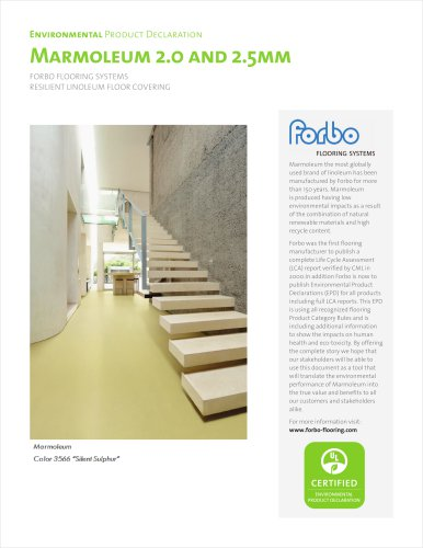 EPD MARMOLEUM 2.0 AND 2.5MM