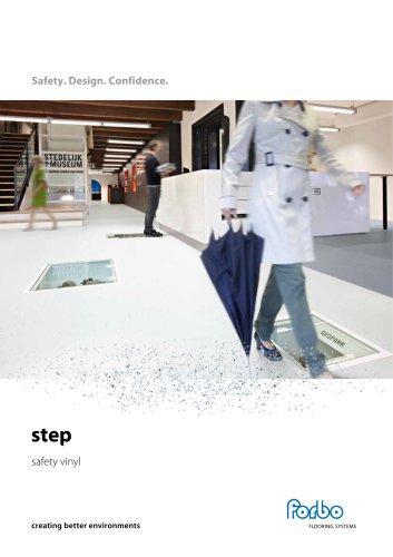 Step safety vinyl