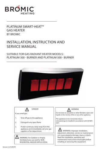 INSTALLATION, INSTRUCTION AND SERVICE MANUAL