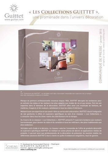 Les collections GUITTET - Janvier 2013