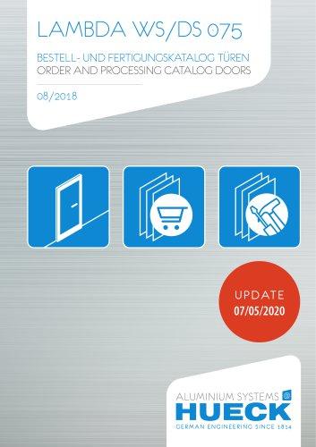 LAMBDA WS/DS 075  ORDER AND PROCESSING CATALOG DOORS