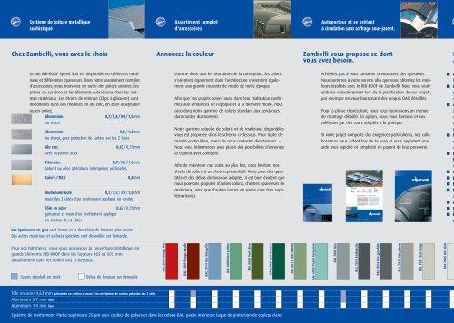 Flyer RIB-ROOF Système de toiture métallique