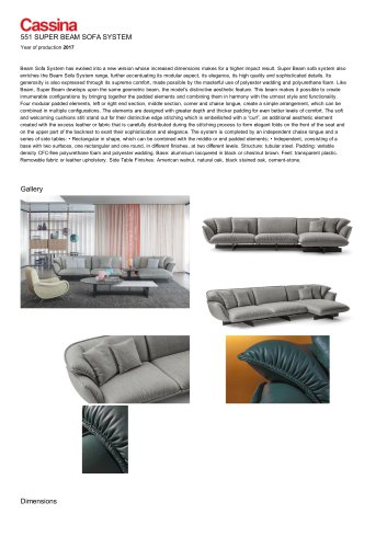 551 SUPER BEAM SOFA SYSTEM