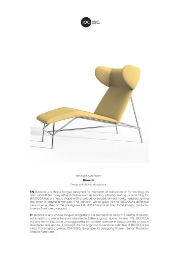 Bicocca-Chaise longue - Technical Data Sheet
