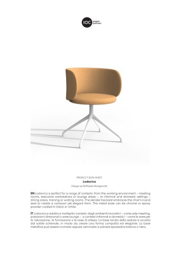 Lodovica-Meeting Chair - Technical Data sheet