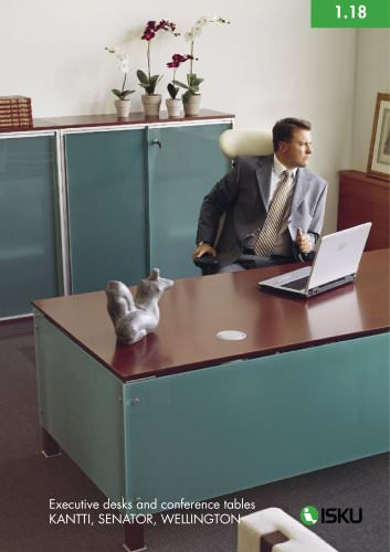 Executive desks and conference tables KANTTI, SENATOR, WELLINGTON