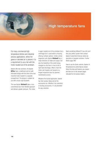 Xpelair High temperature fans
