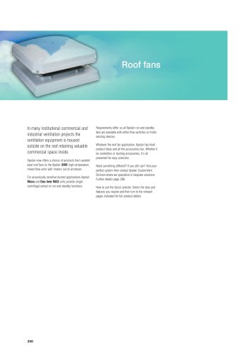 Xpelair Roof fans
