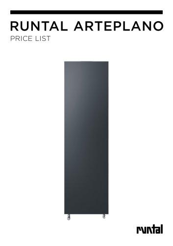 RUNTAL arteplano Price list