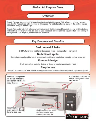 Air-Pac All Purpose Oven